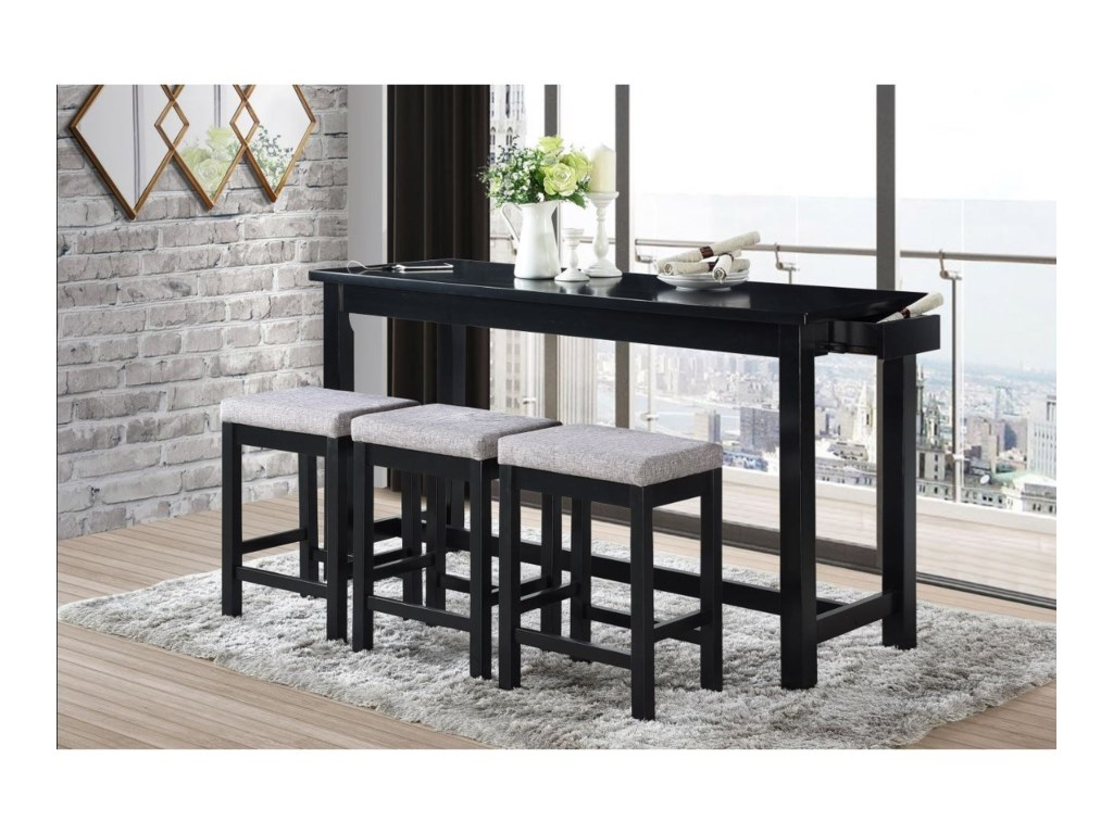 Homelegance Furniture Connected Collection4-Piece Pack Counter Height Set