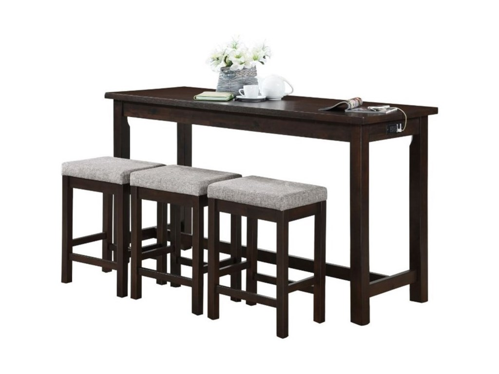 Homelegance Connected Collection4-Piece Pack Counter Height Set