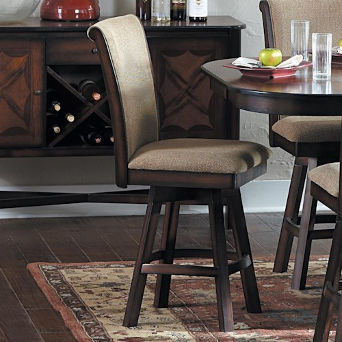 Homelegance 626 Transitional Upholstered Counter Height Chair with Swiveling Seat
