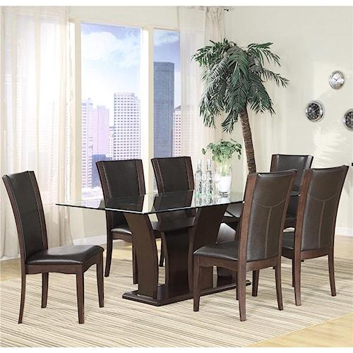 Homelegance 710 7Pc Semi-Formal Dining Room