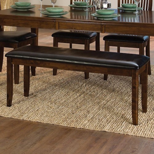 Homelegance Alita Transitional Dining Bench with Upholstered Seat