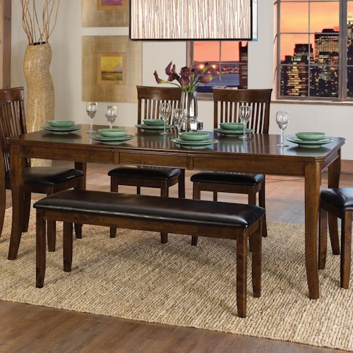 Homelegance Alita Transitional Dining Table with 18