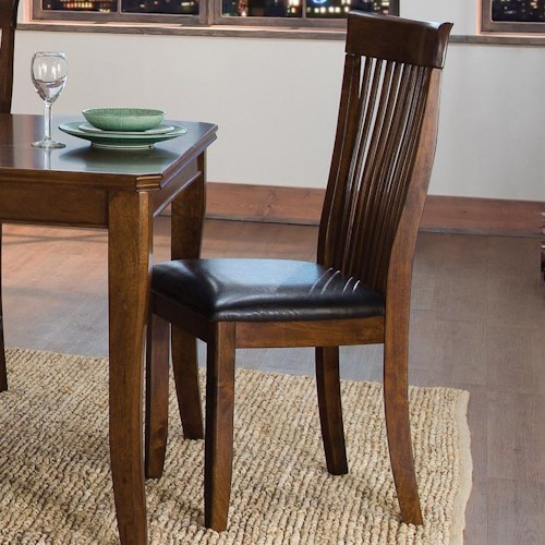 Homelegance Alita Transitional Dining Side Chair with Slat Back