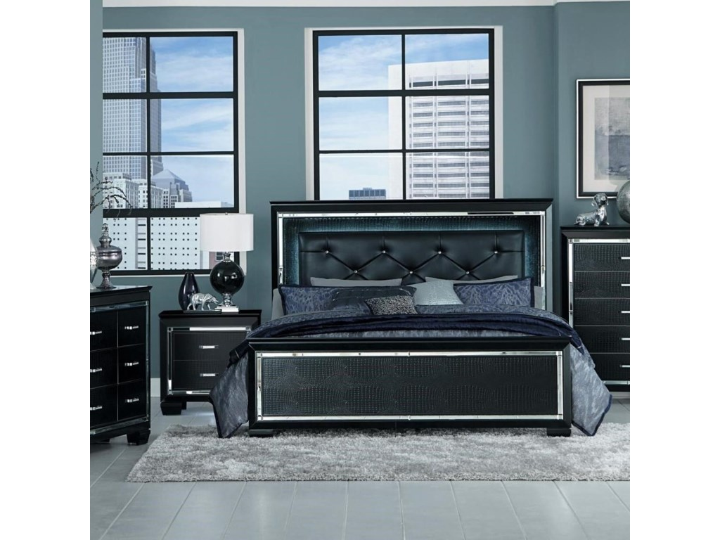 Homelegance AlluraQueen Panel Bed