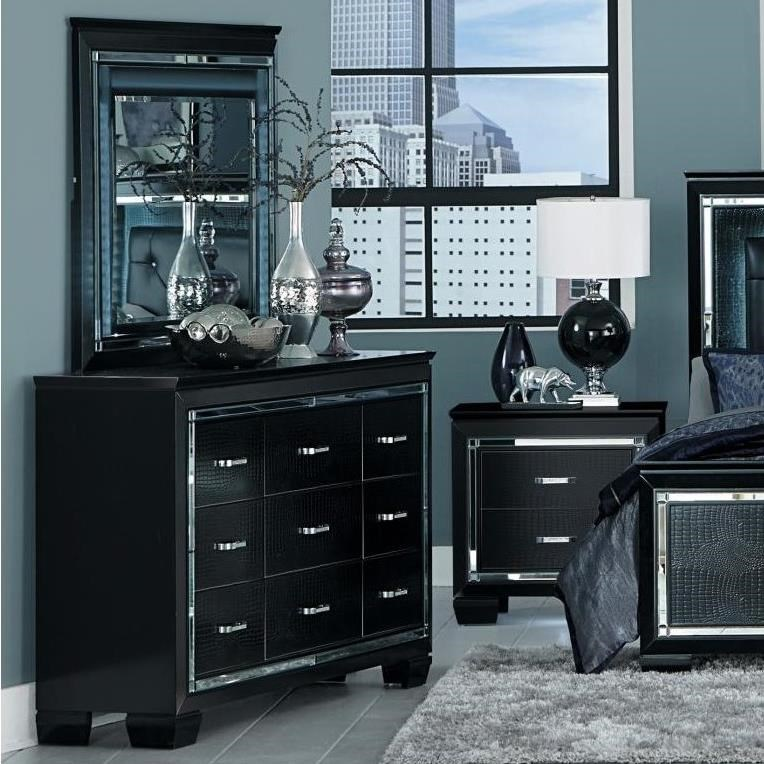 Homelegance AlluraDresser and Mirror Set