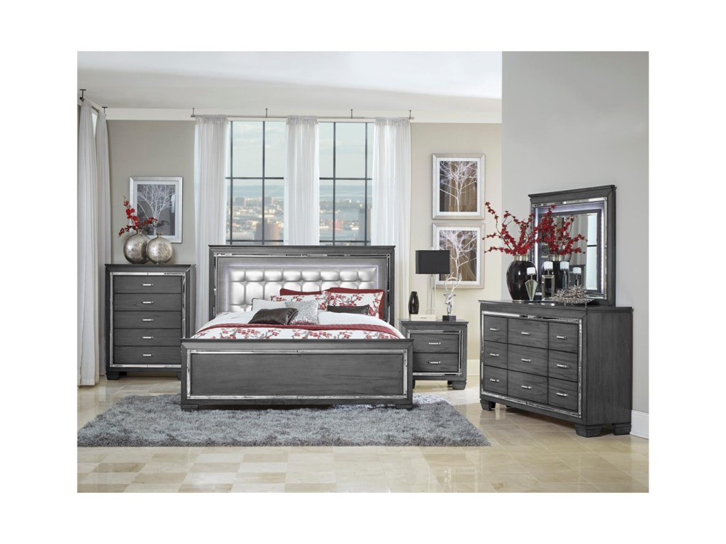 Homelegance AlluraQueen Bedroom Group