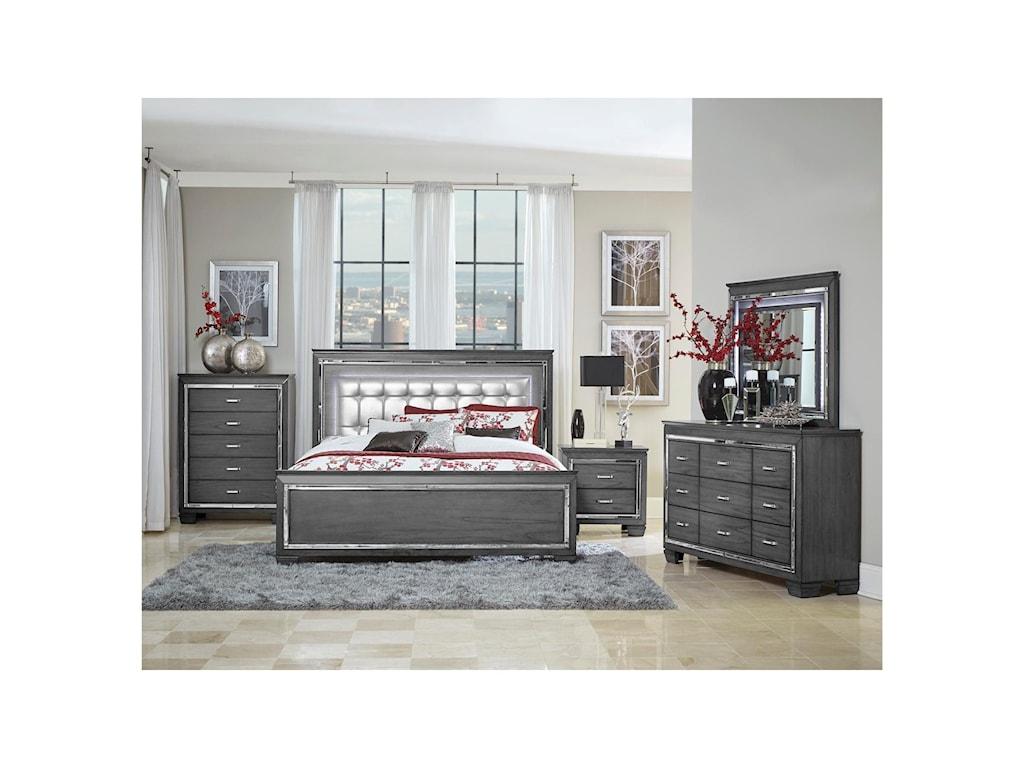 Homelegance AlluraQueen Bedroom Group
