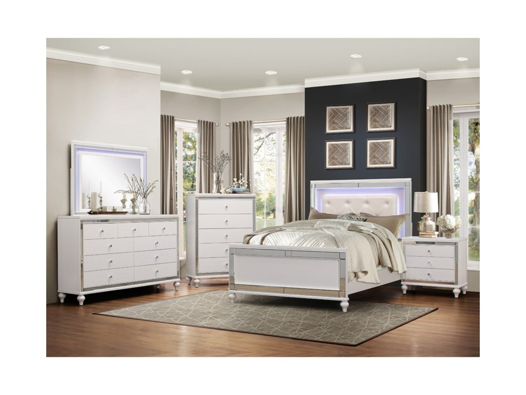 Homelegance AlonzaCal King Lit Bedroom Group