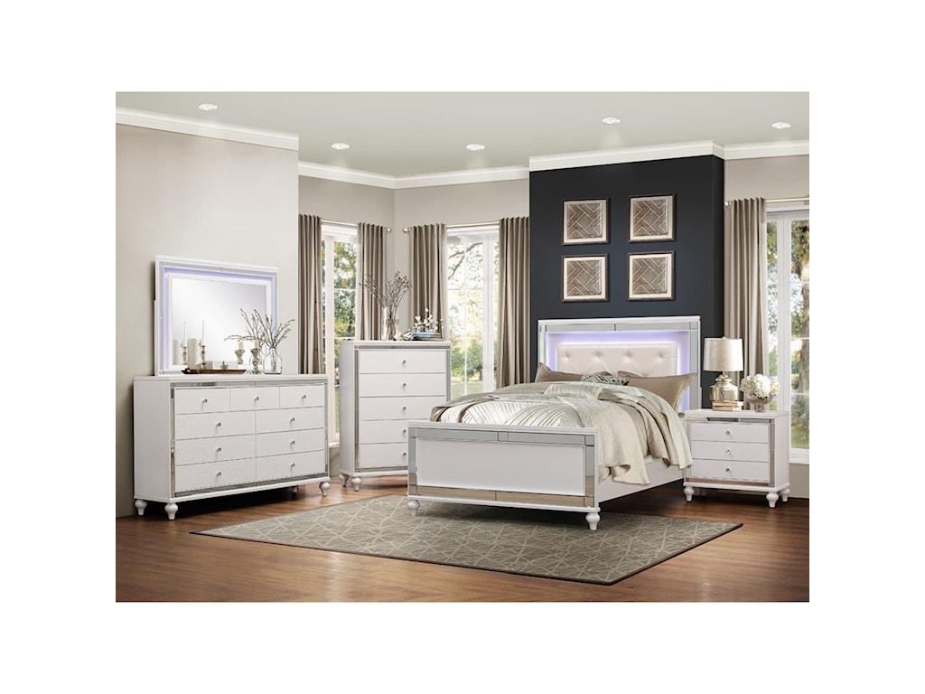 Homelegance AlonzaCal King Lit Bedroom Group