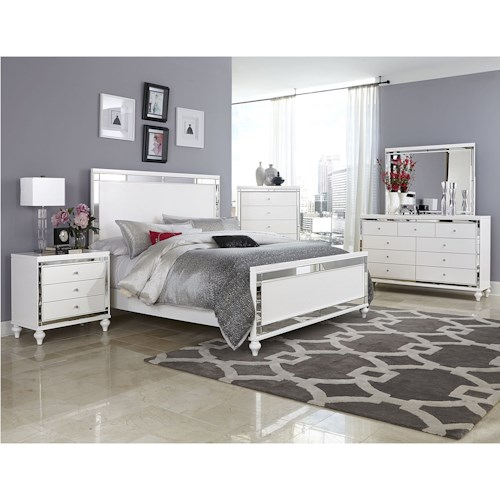 Homelegance Alonza Glam Cal King Bedroom Group