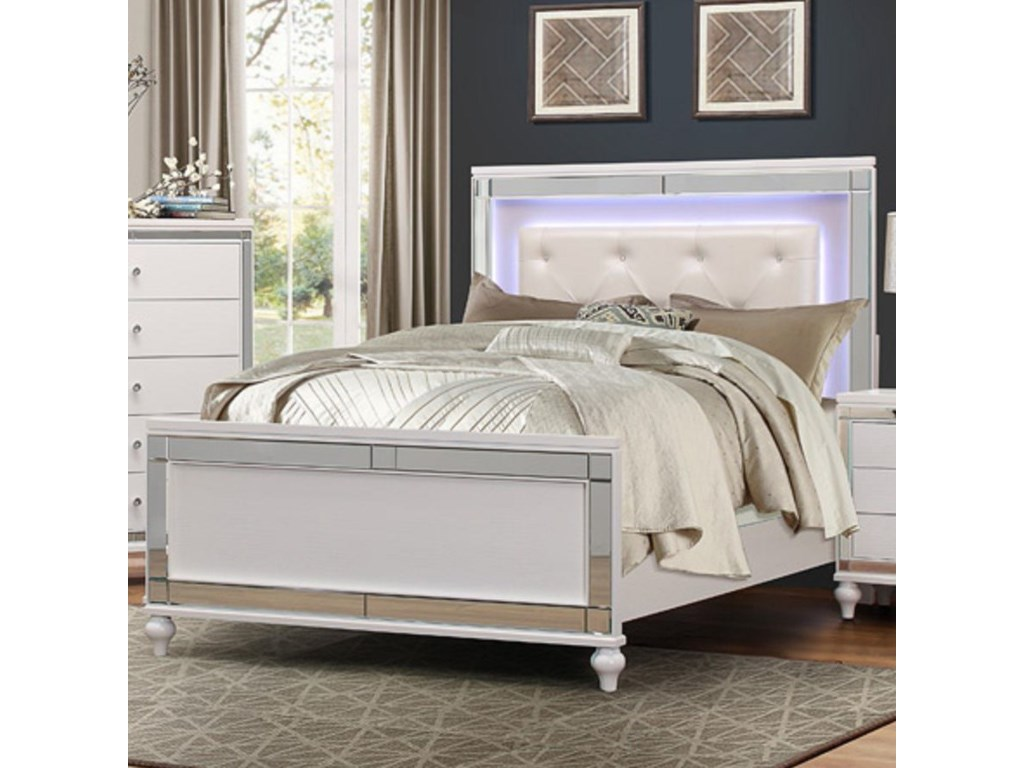 Homelegance AlonzaCal King LED Lit Bed