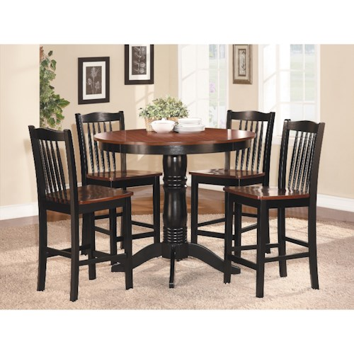 Homelegance Andover Counter Height Table and Chair Set