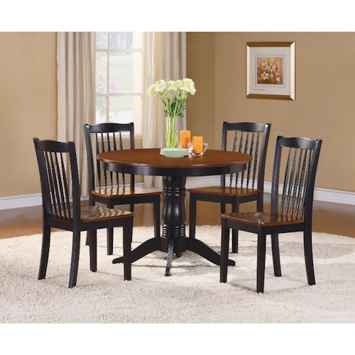 Homelegance Andover Cottage Table and Chair Set with 2-Tone Finish