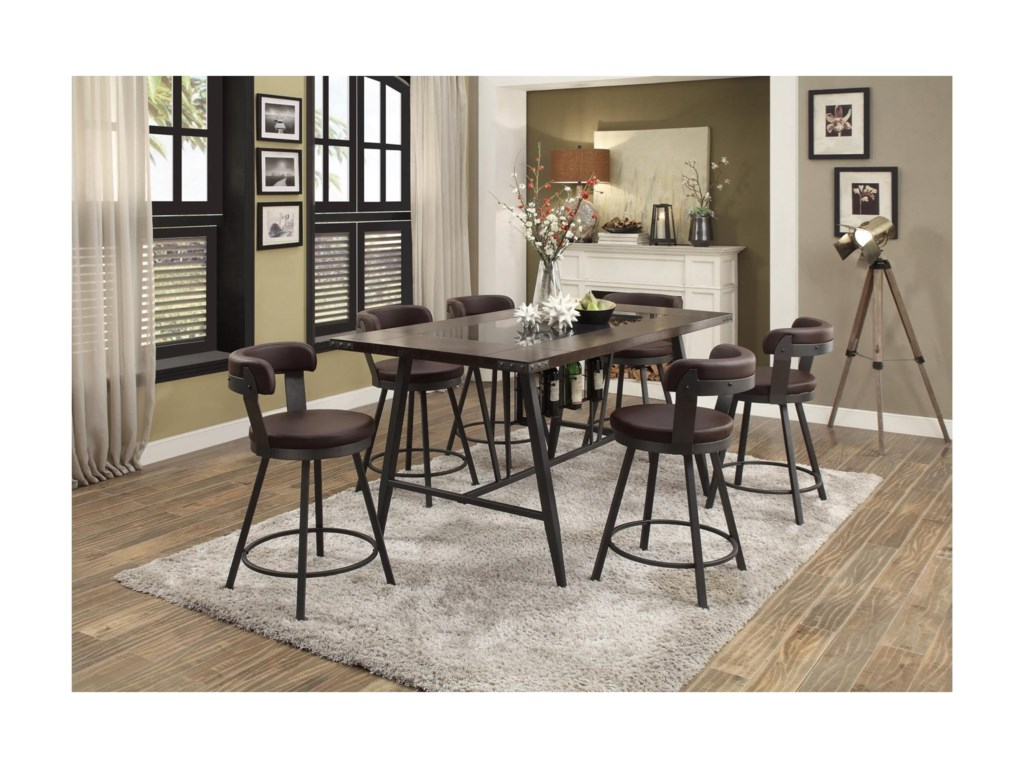 Homelegance Appert7 Piece Dining Set