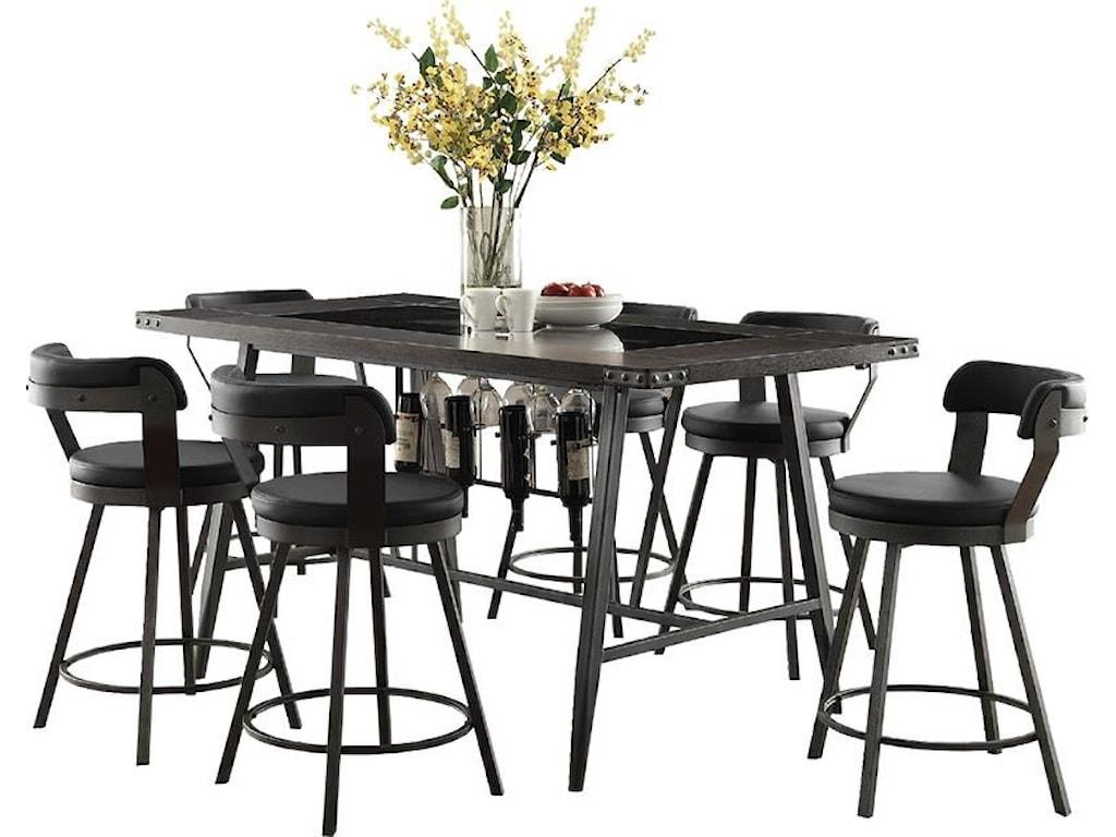 Homelegance Appert5 Piece Counter Height Dining Set
