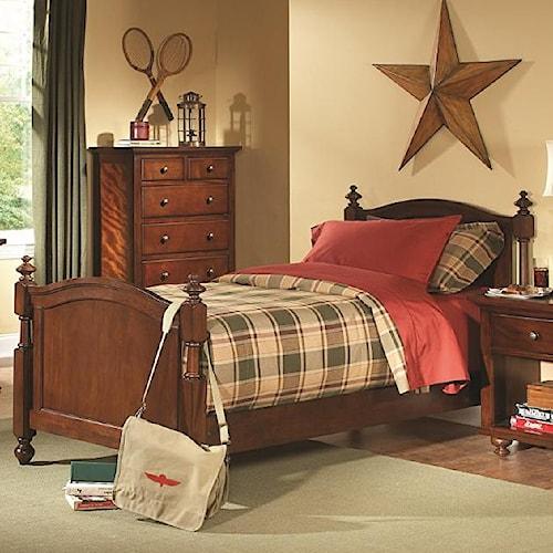 Homelegance Aris Casual Twin Headboard and Footboard Bed