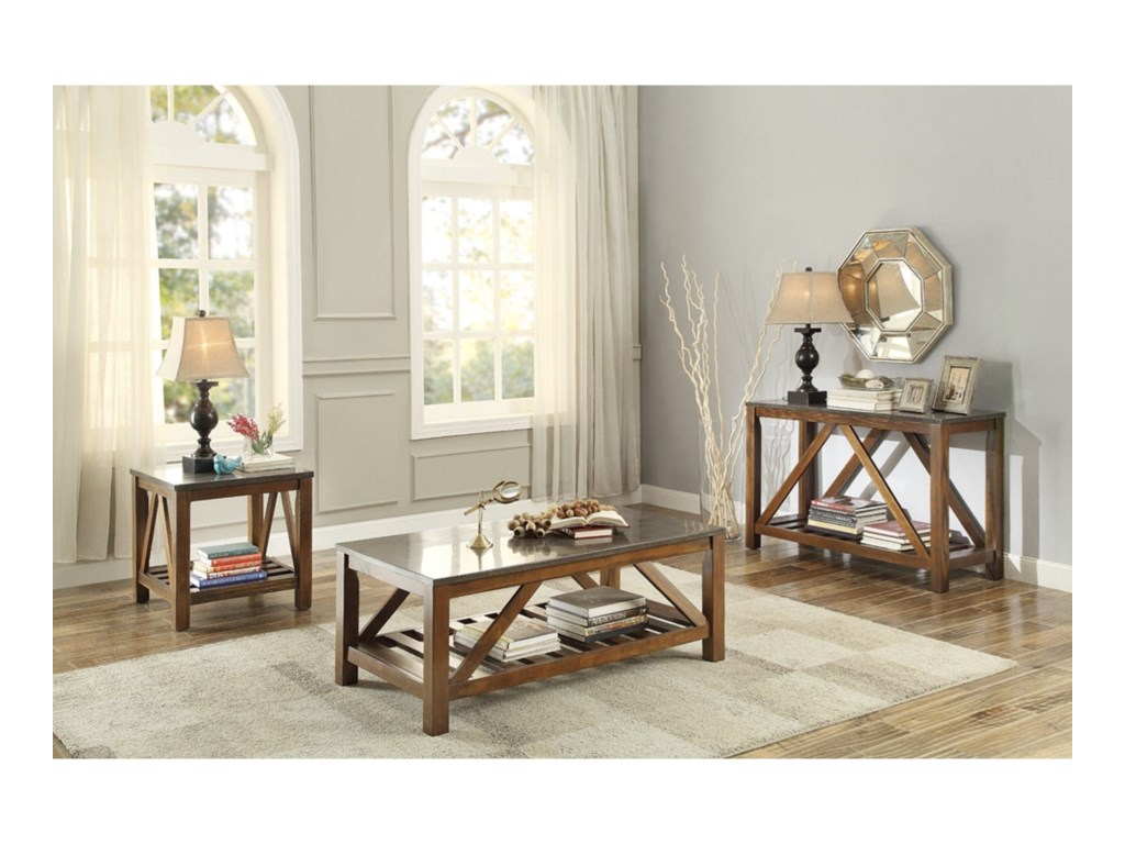 Homelegance AshbyMission Sofa Table