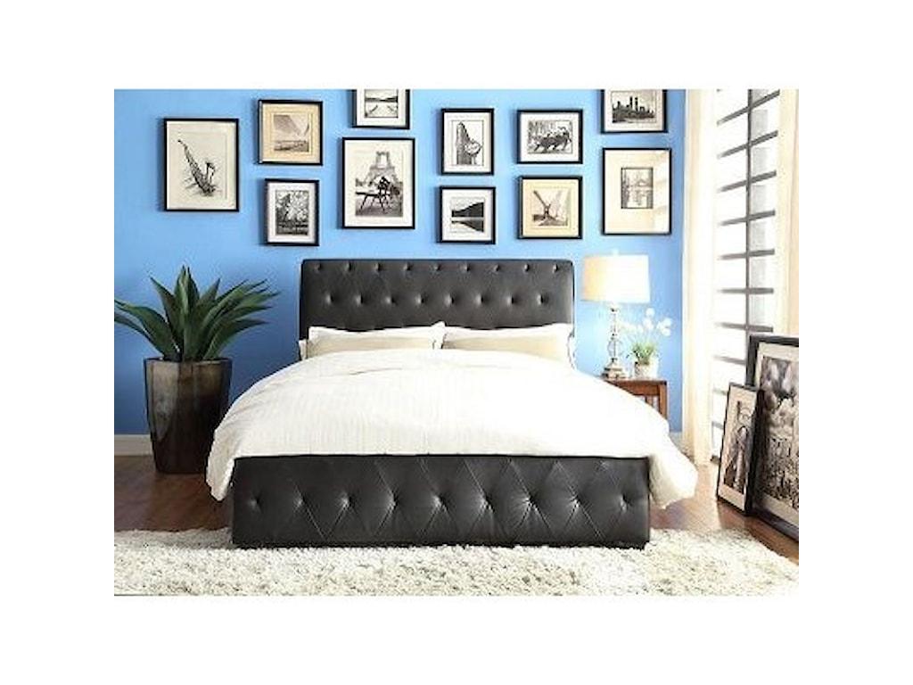 Homelegance BaldwynContemporary King Upholstered Platform Bed
