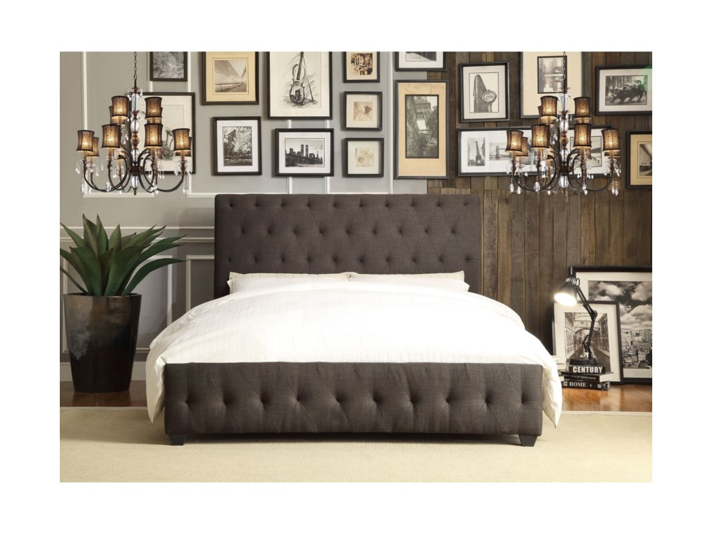 Homelegance BaldwynContemporary Queen Upholstered Platform Bed