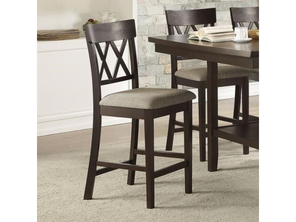 Homelegance BalinDouble X-Back Counter Height Chair