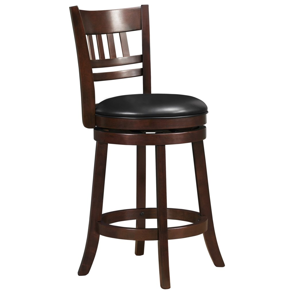 Barstools counter height stool with swiveling seat by homelegance