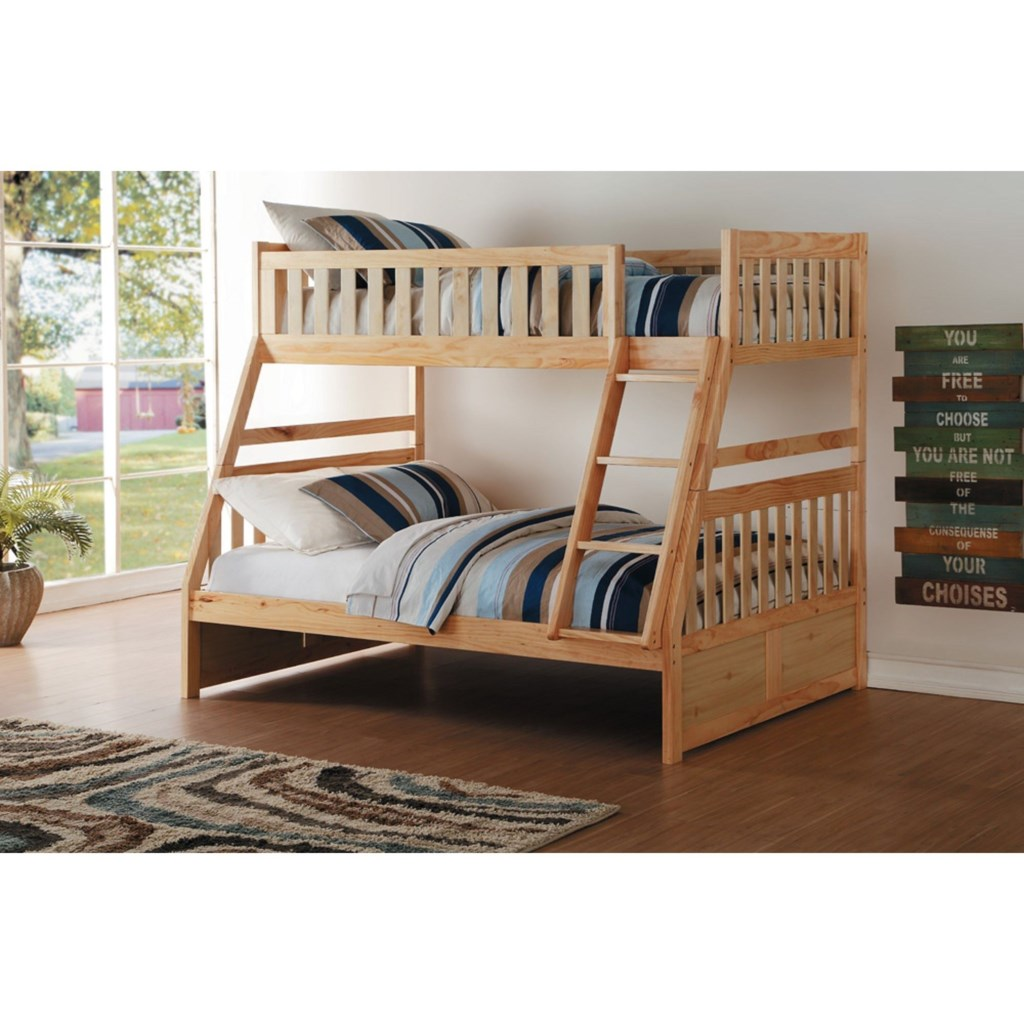 Homelegance Bartly Twin Over Full Bunk Bed Beck S Furniture Bunk