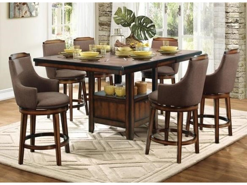 Homelegance Bayshore FabricCounter Height Table and Chair Set