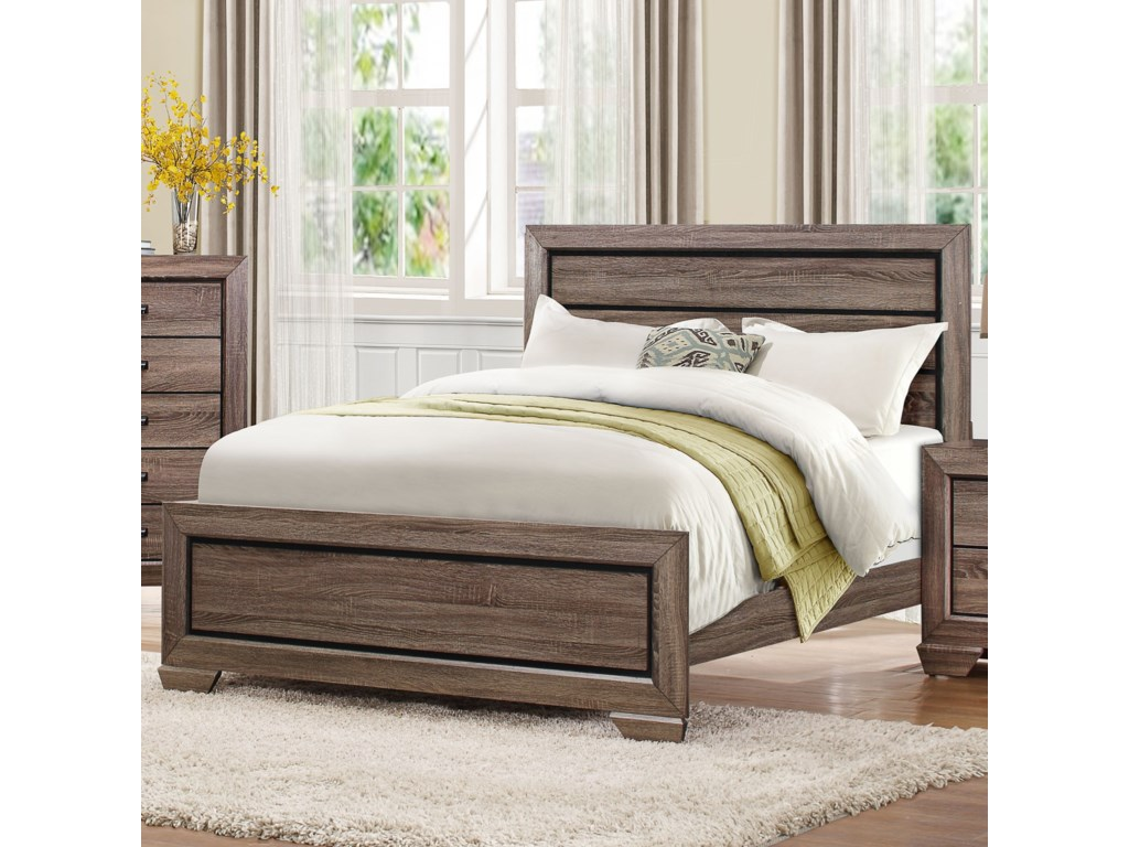 Homelegance BeechnutModern King Headboard and Footboard