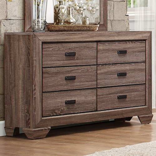 Homelegance Beechnut Contemporary 6-Drawer Dresser with Dovetail Joinery