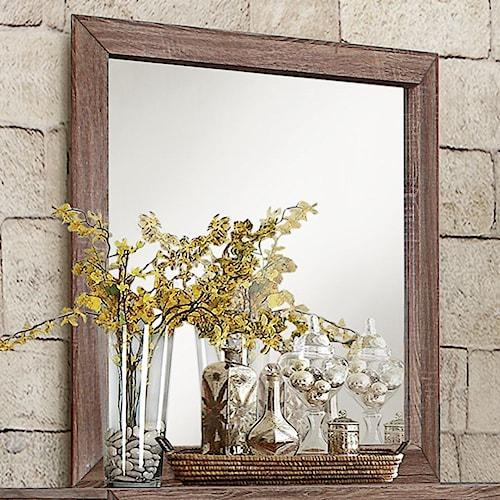 Homelegance Beechnut Contemporary Beveled Mirror