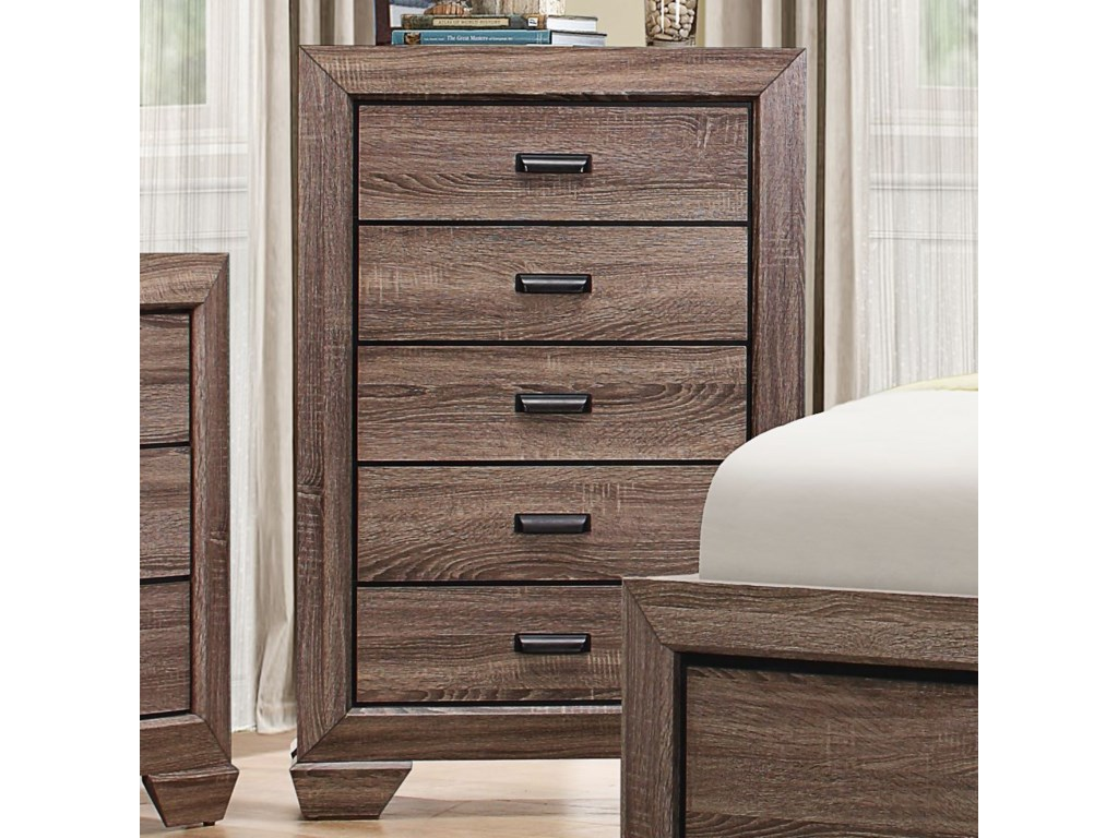 Homelegance BeechnutModern 5-Drawer Chest