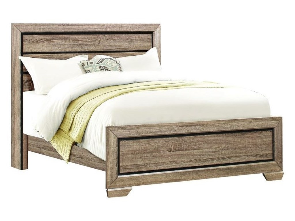 Homelegance BeechnutTwin Headboard and Footboard