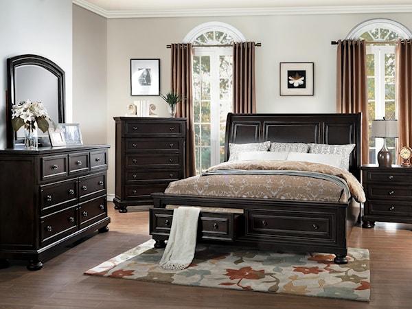 Begonia Queen Bedroom Group