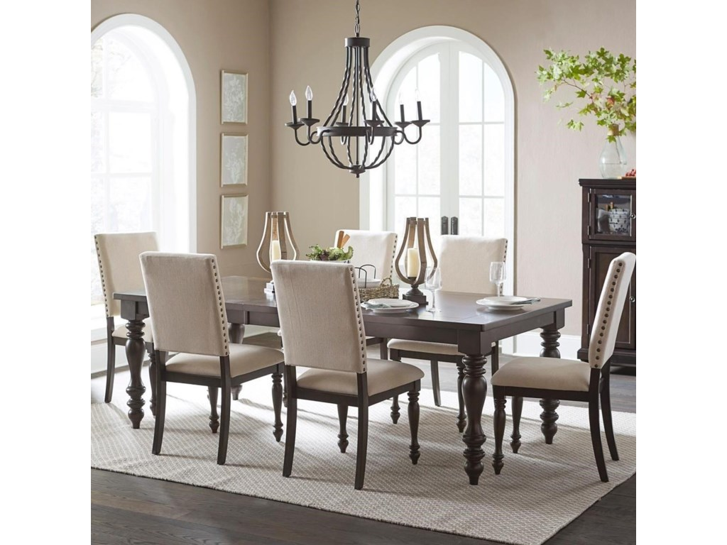 Homelegance Begonia Transitional Seven Piece Dining Table ...
