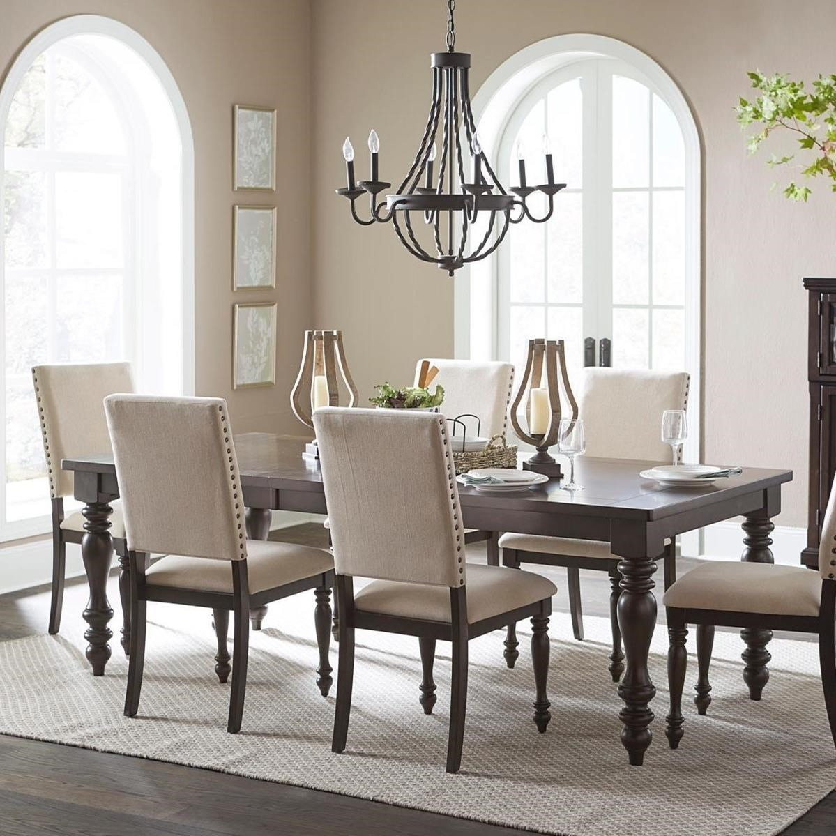 Begonia Transitional Dining Table With Turned Legs By Homelegance