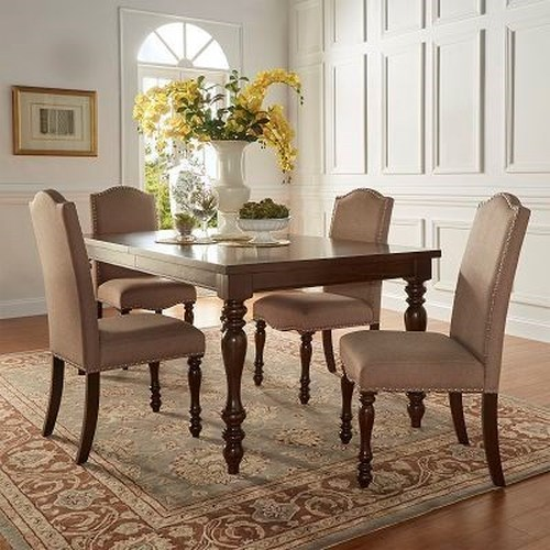 Homelegance Benwick Traditional Dining Table and Chair Set with Turned Legs