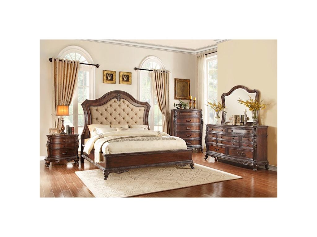 Homelegance Bonaventure - 1935Queen Bedroom Group