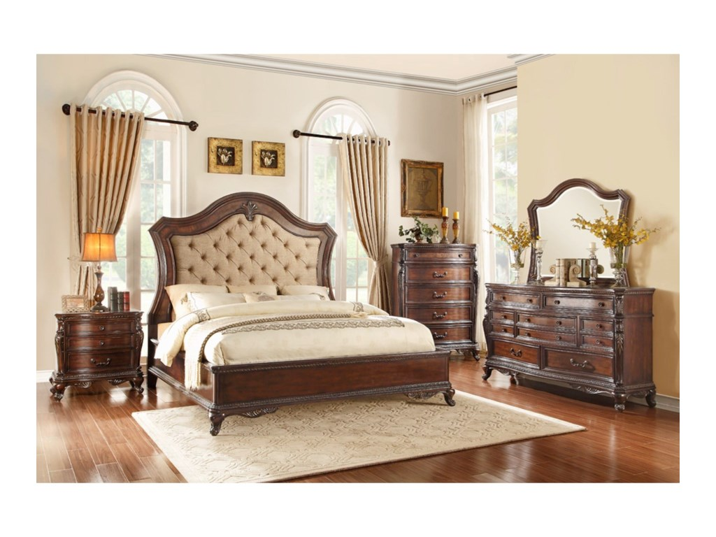 Homelegance Bonaventure - 1935Queen Low Profile Bed