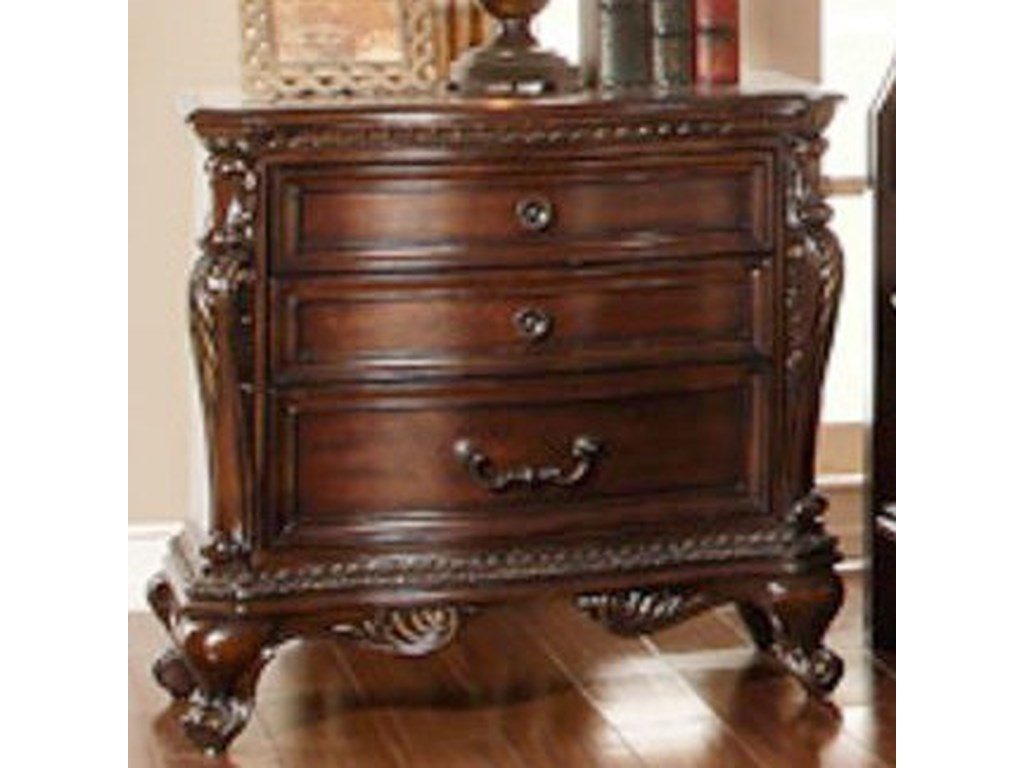 Homelegance Bonaventure - 1935Traditional 3-Drawer Nightstand