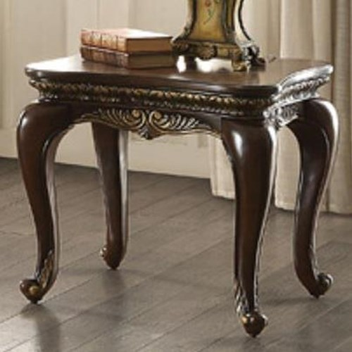 Homelegance Bonaventure Occ End Table with Cabriole Legs