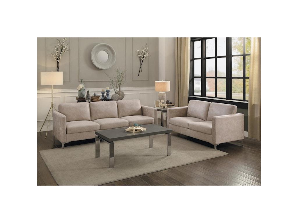 Homelegance BreauxStationary Living Room Group