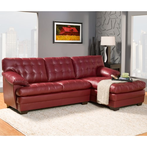 Homelegance Brooks Contemporary Bonded Leather Sectional Sofa with Chaise