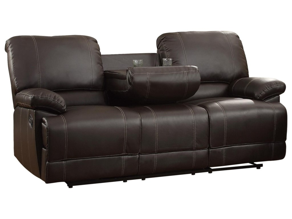 Homelegance Cassville Double Reclining Sofa With Drop Down Cup