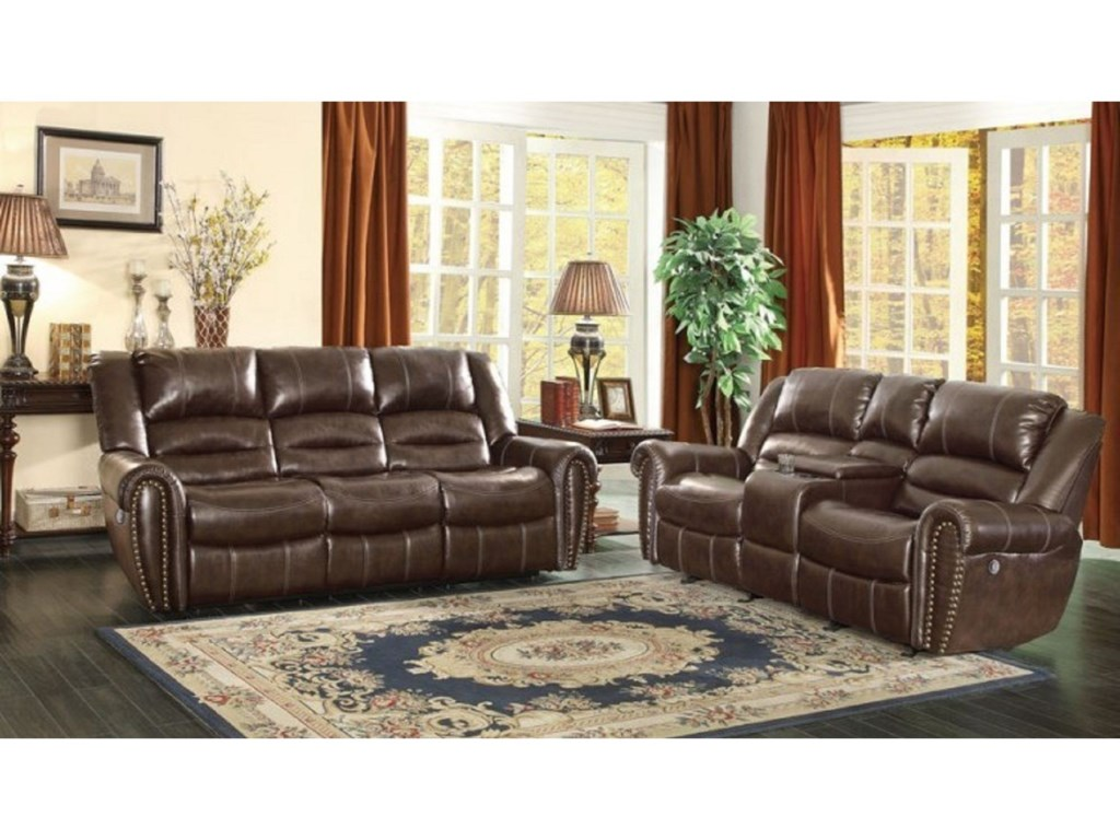 Homelegance Center HillPower Reclining Living Room Group