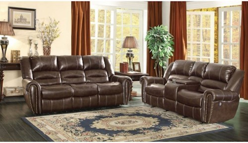 Homelegance Center Hill Traditional Power Reclining Living Room Group