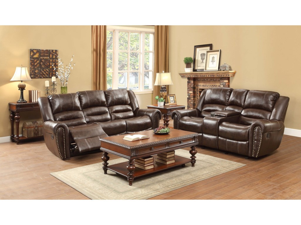 Homelegance Center HillReclining Living Room Group