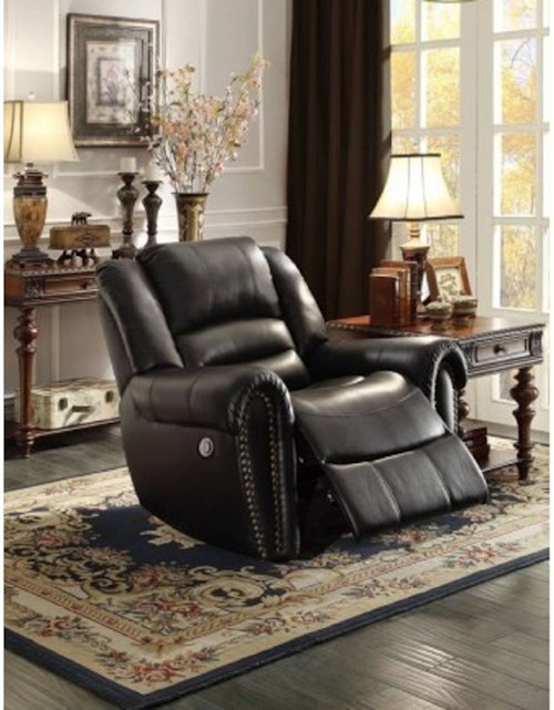 Homelegance Center Hill Traditional Gliding Recliner with Nailhead Trim