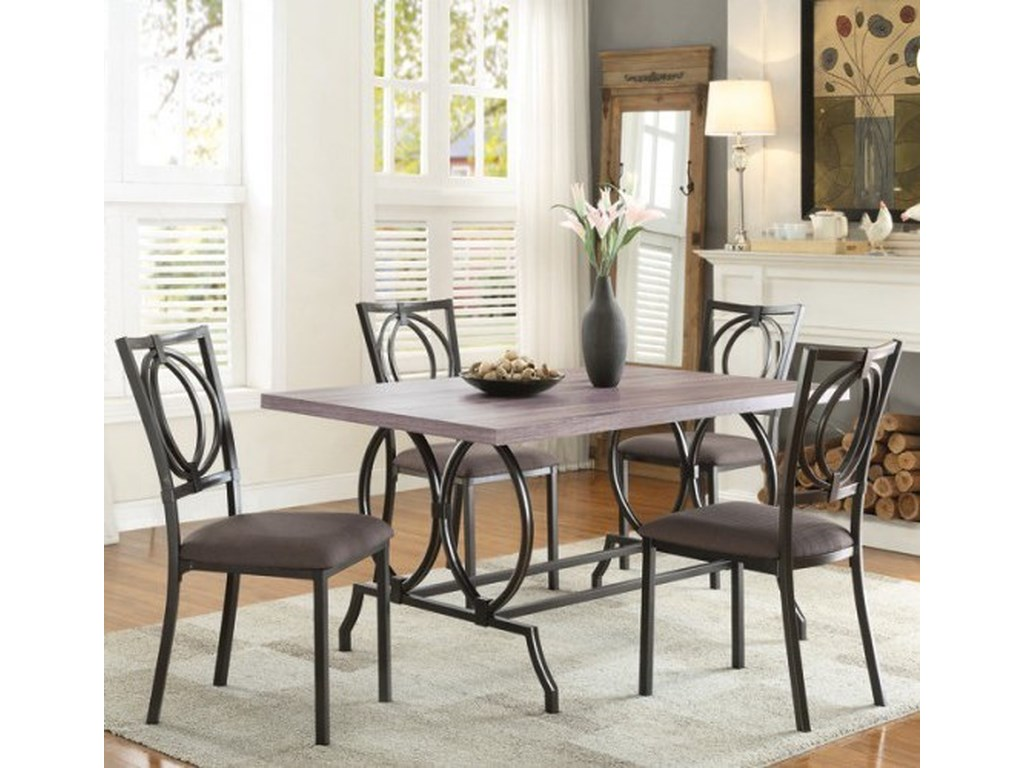 Homelegance ChamaCasual Table and Chair Set