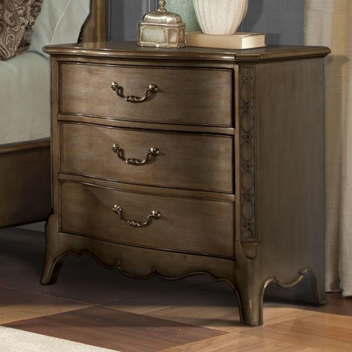 Homelegance Chambord Nightstand with 3 Drawers