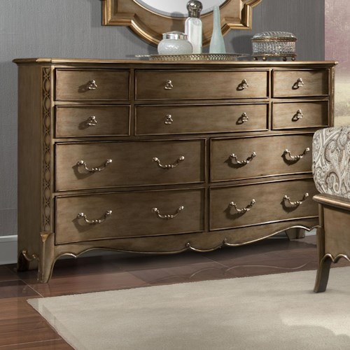 Homelegance Chambord Dresser with 10 Drawers